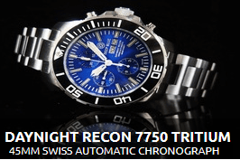DAYNIGHT RECON 7750 TRITIUM CHRONOGRAPH AUTOMATIC