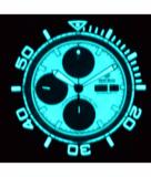 MASTER CHRONO 7750 AUTOMATIC DIVER WHITE LUME DIAL BLUE SUBDIALS_
