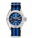DEFENDER 1000 44MM AUTOMATIC SS CASE DARK BLUE SUNRAY DIAL_