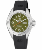 DEFENDER 1000 44MM AUTOMATIC SS CASE GREEN DIAL_
