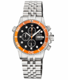 DIVER 1000 QUARTZ CHRONOGRAPH DIVER ORANGE BEZEL – BLACK DIAL_