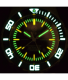 DAYNIGHT RECON GMT 2893 SWISS AUTOMATIC TRITIUM T-100 BLACK DIAL_