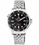 MASTER 1000 II 44MM AUTOMATIC DIVER BLACK CERAMIC BEZEL -BLACK GLOSSY DIAL-RED SECOND HAND_