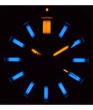 DAYNIGHT MIL T100 TRITIUM BLUE FLAT TUBES- BLACK DIAL_