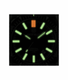 DAYNIGHT MIL T100 TRITIUM GREEN FLAT TUBES - BLACK DIAL_