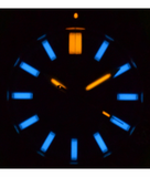 DAYNIGHT MIL T100 TRITIUM BLUE FLAT TUBES -ORANGE DIAL_
