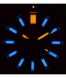 DAYNIGHT MIL T-100 TRITIUM BLUE FLAT TUBES- BLACK PVD CASE /BLACK DIAL_