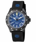 DAYNIGHT MIL T-100 TRITIUM BLUE TUBES- BLACK PVD CASE / BLUE DIAL_