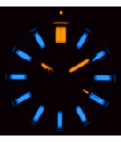 DAYNIGHT MIL T-100 TRITIUM BLUE TUBES- BLACK PVD CASE / GREEN DIAL_