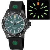 DAYNIGHT MIL T-100 TRITIUM GREEN FLAT TUBES- BLACK PVD CASE / GREEN DIAL_