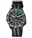 DAYNIGHT DIVER PC TRITIUM WATCH BLACK/BLUE BEZEL - BLACK DIAL_