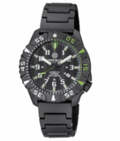 DAYNIGHT DIVER PC TRITIUM WATCH BLACK/GREEN BEZEL - BLACK DIAL_
