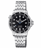 MASTER 1000 II 44MM AUTOMATIC DIVER BLACK CERAMIC BEZEL -BLACK GLOSSY DIAL-BLUE SECOND HAND_