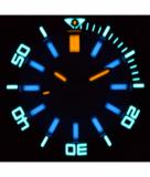 DAYNIGHT SCUBA TRITIUM T-100 SWISS AUTOMATIC LIGHT BLUE DIAL_