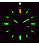 DAYNIGHT 45 TRITDIVER T-100 TRITIUM TUBES AUTOMATIC GREEN BEZEL- BLACK DIAL_