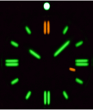 DAYNIGHT 41 TRITDIVER T-100 TRITIUM TUBES AUTOMATIC GREEN BEZEL- BLACK DIAL_