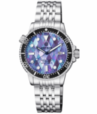 MASTER 1000 II 44MM AUTOMATIC DIVER BLACK CERAMIC BEZEL – DIAMOND PATTERN MOTHER OF PEARL DIAL STRAP_