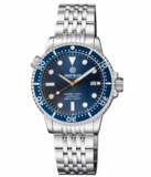 DIVER 1000 II 40MM AUTOMATIC DIVER DARK BLUE CERAMIC BEZEL – DARK BLUE DIAL ORANGE SECOND HAND_