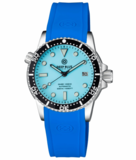 DIVER 1000 II 40MM AUTOMATIC DIVER BLACK CERAMIC BEZEL – ICE BLUE DIAL STRAP_