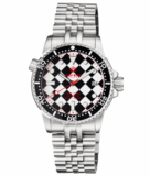 DIVER 1000 II 40MM AUTOMATIC DIVER BLACK CERAMIC BEZEL � MOTHER OF PEARL DIAMOND PATTERN STRAP_