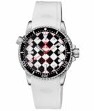 DIVER 1000 II 40MM AUTOMATIC DIVER BLACK CERAMIC BEZEL – BLACK / WHITE CHECKER DIAL RED SECOND HAND BRACELET_