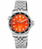 DIVER 1000 II 40MM AUTOMATIC DIVER BLACK CERAMIC BEZEL – ORANGE SUNRAY DIAL_