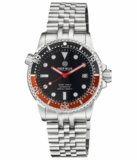 DIVER 1000 II 40MM AUTOMATIC DIVER BLACK/RED CERAMIC BEZEL – BLACK GLOSSY DIAL_