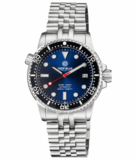 DIVER 1000 II 40MM AUTOMATIC DIVER BLACK CERAMIC BEZEL – DARK BLUE SUNRAY DIAL RED SECOND HAND_