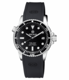 DIVER 1000 II 40MM AUTOMATIC DIVER BLACK CERAMIC BEZEL – BLACK GLOSSY DIAL SILVER HANDS_