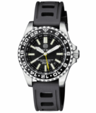 MASTER 2000 GMT DAYNIGHT T-100 TRITIUM AUTOMATIC DIVER- ETA 2893-2 SWISS MADE MOVEMENT BLACK BEZEL BLACK DIAL YELLOW GMT HAND YELLOW TUBES_