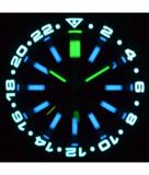 MASTER 2000 GMT DAYNIGHT T-100 TRITIUM AUTOMATIC DIVER- ETA 2893-2 SWISS MADE MOVEMENT BLACK BEZEL BLACK DIAL YELLOW GMT HAND YELLOW TUBES_