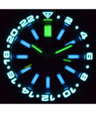 MASTER 500 42MM DAYNIGHT T-100 TRITIUM GMT AUTOMATIC DIVER- ETA 2893-2 SWISS MADE MOVEMENT BLACK/BLUE BEZEL – YELLOW GMT HAND_