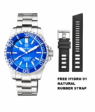 MASTER 2000 DAYNIGHT T-100 TRITIUM SWISS AUTOMATIC DIVER BLUE BEZEL – LIGHT BLUE DIAL SS CASE_