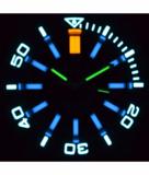 MASTER 2000 DAYNIGHT T-100 TRITIUM SWISS AUTOMATIC DIVER BLACK BEZEL - BLACK DIAL SS CASE_