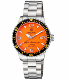 ALPHA MARINE AUTOMATIC BLACK ORANGE CERAMIC LUMINOUS BEZEL FULL LUME ORANGE DIAL_