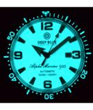 ALPHA MARINE AUTOMATIC BLACK WHITE CERAMIC LUMINOUS BEZEL FULL LUME WHITE GREEN DIAL_