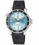 MASTER 1000 II 44MM AUTOMATIC DIVER BLACK CERAMIC BEZEL SUNRAY ICE BLUE DIAL STRAP_