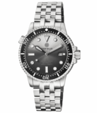 MASTER 1000 II 44MM AUTOMATIC DIVER BLACK CERAMIC BEZEL SUNRAY WHITE BLACK DIAL STRAP_