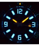 ALPHA MARINE 500 TRITIUM TUBES T-100 SWISS AUTOMATIC BLACK DIAL - BEZEL LUME BGW9 - BRACELET_