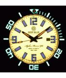 ALPHA MARINE 500 TRITIUM TUBES T-100 SWISS AUTOMATIC ORANGE DIAL - BEZEL LUME C3 - BRACELET_