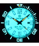 ALPHA MARINE 500 TRITIUM TUBES T-100 SWISS AUTOMATIC WHITE DIAL BGW9 WHITE / BLUE - BEZEL LUME BGW9 - BRACELET_