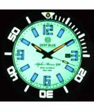 ALPHA MARINE 500 TRITIUM TUBES T-100 SWISS AUTOMATIC WHITE DIAL C3 WHITE / GREEN - BEZEL LUME C3 - BRACELET_