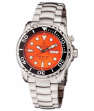DEEP BLUE PRO SEA DIVER 1000M BRACELET ORANGE - AUTOMATIC_