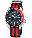 NATO DIVER 300 AUTOMATIC – SS DIVER RED/ BLACK BEZEL -BLACK DIAL_