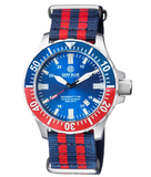 DAYNIGHT TRITDIVER T-100 AUTOMATIC BLUE/RED BEZEL- BLUE DIAL_
