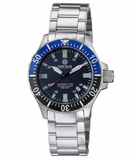 DAYNIGHT TRITDIVER T-100 AUTOMATIC BLACK/BLUE BEZEL- BLACK DIAL_