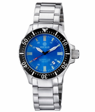 DAYNIGHT TRITDIVER T-100 AUTOMATIC BLACK BEZEL- LIGHT BLUE DIAL_