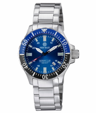 DAYNIGHT TRITDIVER T-100 AUTOMATIC BLACK/BLUE BEZEL- DARK BLUE DIAL_