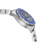 DAYNIGHT RESCUE GMT T-100 SWISS AUTO SELLITA SW-330-1 BLACK-BLUE BEZEL/BLUE DIAL/WHITE HANDS_