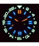 DAYNIGHT RESCUE GMT T-100 SWISS AUTO SELLITA SW-330-1 BLACK-BLUE BEZEL/BLUE DIAL/WHITE HANDS_
